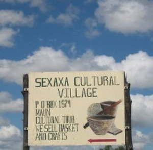 Sexaxa Cultural Village sign post